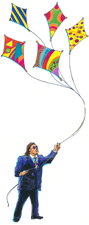 Ben Franklin - a more contemporary colorful kite flying enthusiast