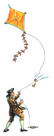 Ben Franklin - vintage kite flying